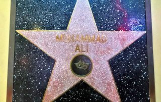 Ali is the only star whose name is not on the floor, and instead hangs on the wall. - IZZAT RIAZ