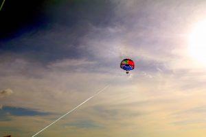 Parasailing above the ocean! - IZZAT RIAZ