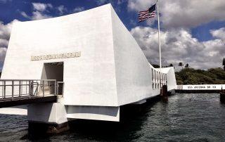The USS Arizona Memorial, at Pearl Harbor in Honolulu. - IZZAT RIAZ