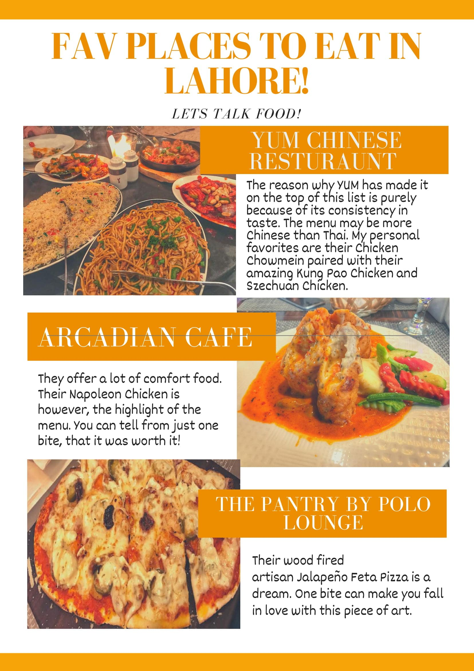 FAV PLACES TO EAT IN LAHORE!